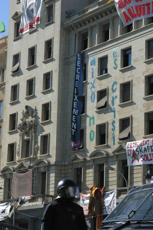 General strike in Barcelona (Spain) on the 29th of September, 2010.
