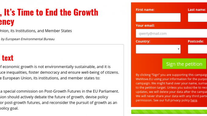 Post Growth Open Letter To Eu Institutions Signed By Over 200