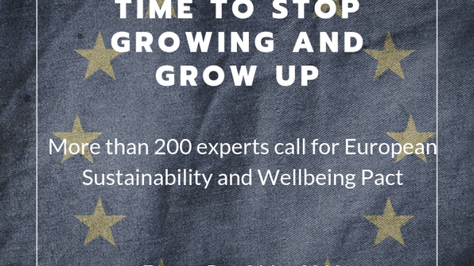 What Europe needs is a Sustainability and Wellbeing Pact